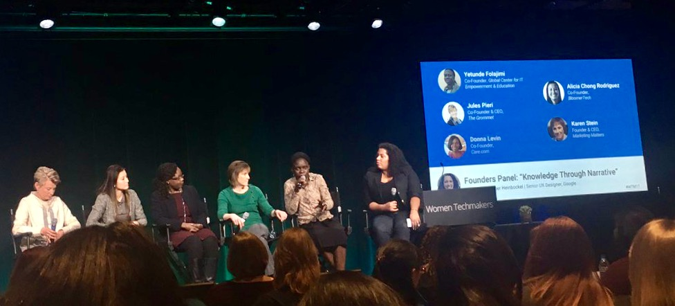 Karen Stein speaks at Google International Women's Day